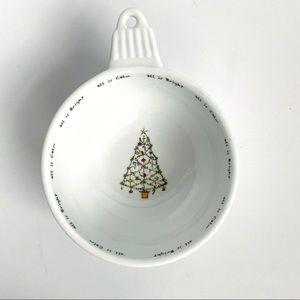 Pottery Barn Holiday Cheer ornament dessert bowl